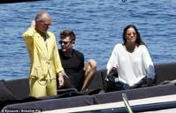 Mellow yellow: Zac and Michelle have been enjoying a relaxing Italian getaway with their businessman pal Gianluca Vacchi
